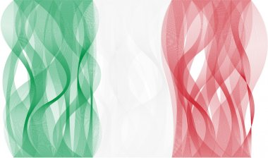 Wave line flag of Italy