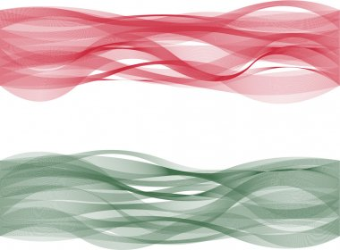 Wave line flag of Hungary