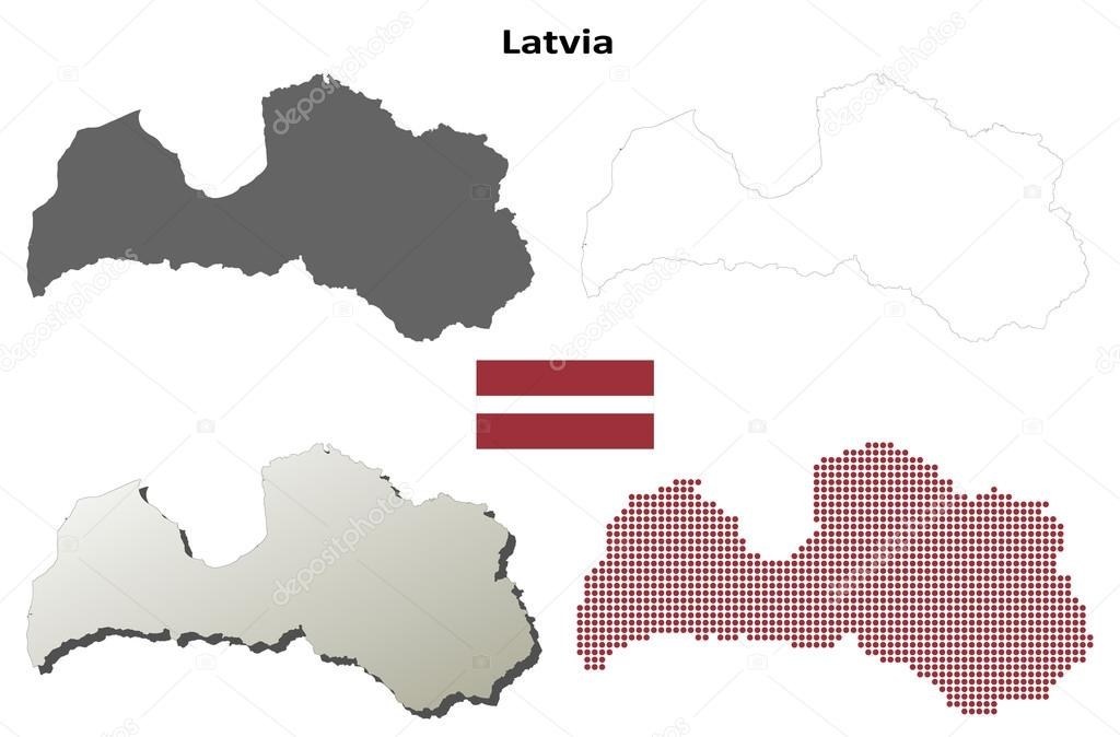 Latvia outline map set stock vector davidzydd 53908453 latvia outline map set stock vector publicscrutiny Gallery