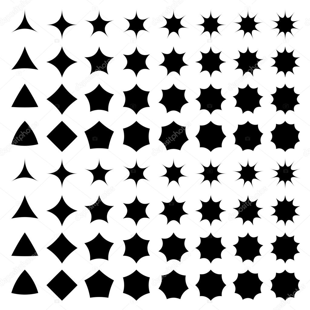 Curved Star Silhouette Collection Stock Vector C Davidzydd 53909653 Star silhouette free vector we have about (9,866 files) free vector in ai, eps, cdr, svg vector illustration graphic art design format. depositphotos