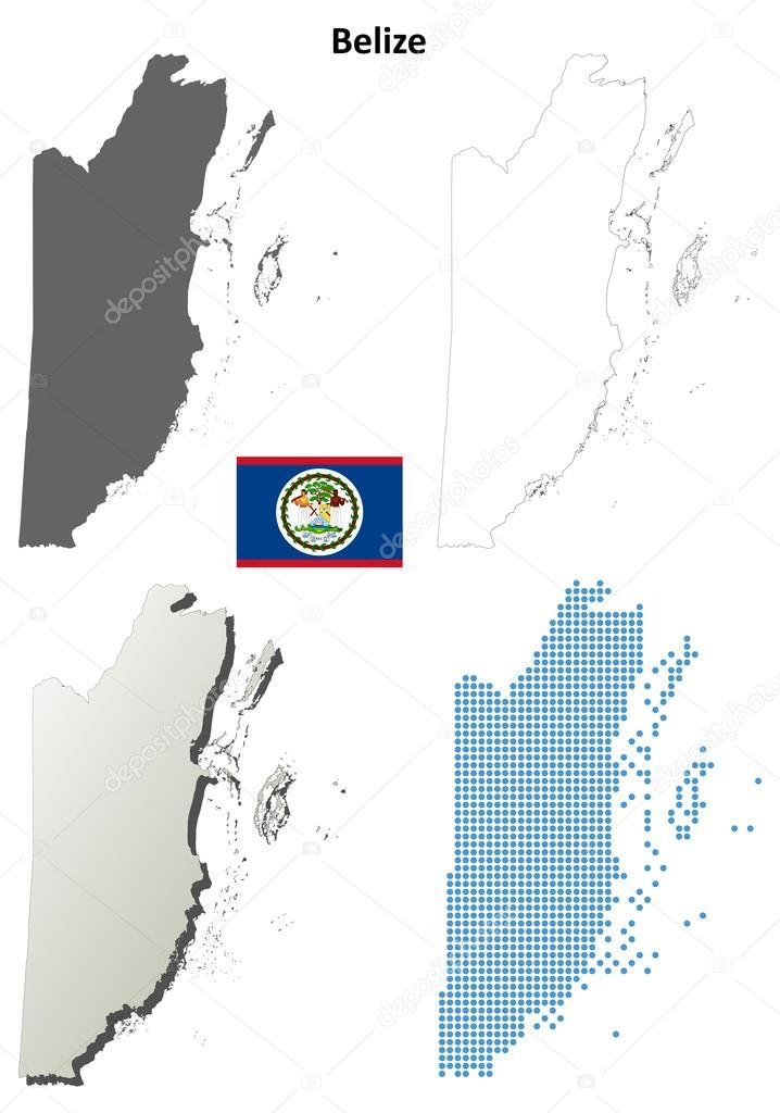 Belize blank detailed outline map set — Stock Vector © davidzydd ...