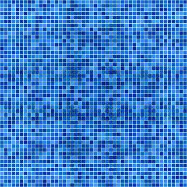 Blue pixel mosaic background