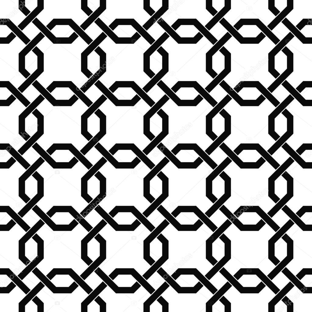 Monochromatic Seamless Trellis Pattern Stock Vector