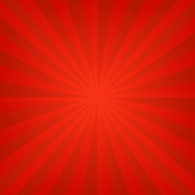 Red ray burst background