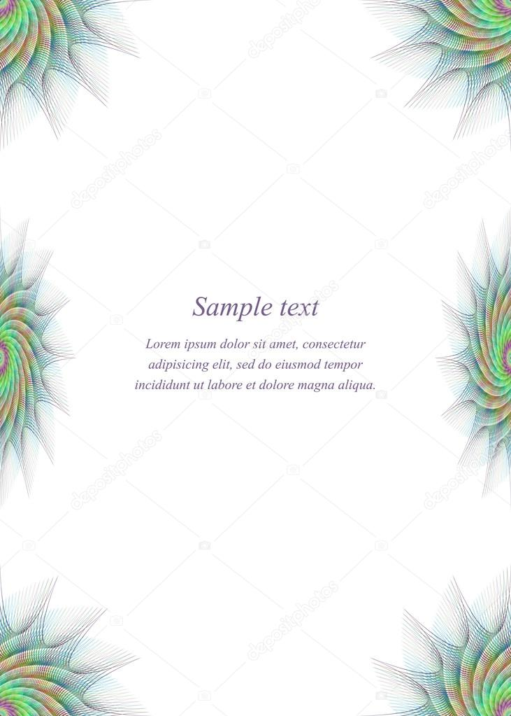 Colorful page border design template — Stock Vector © davidzydd ...