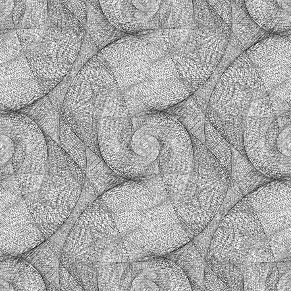Seamless Black And White Swirl Pattern Stock Vector Davidzydd