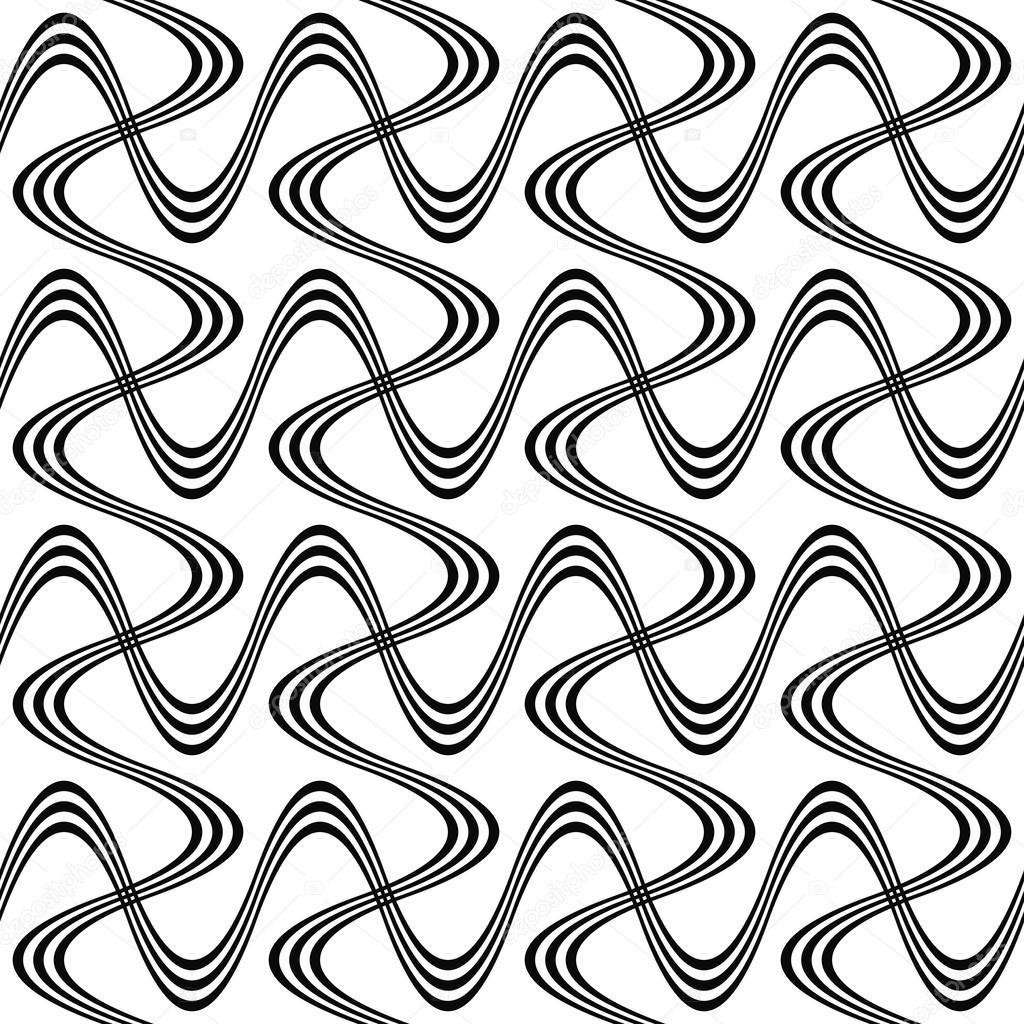 Repeating Black And White Swirl Pattern Stock Vector Davidzydd