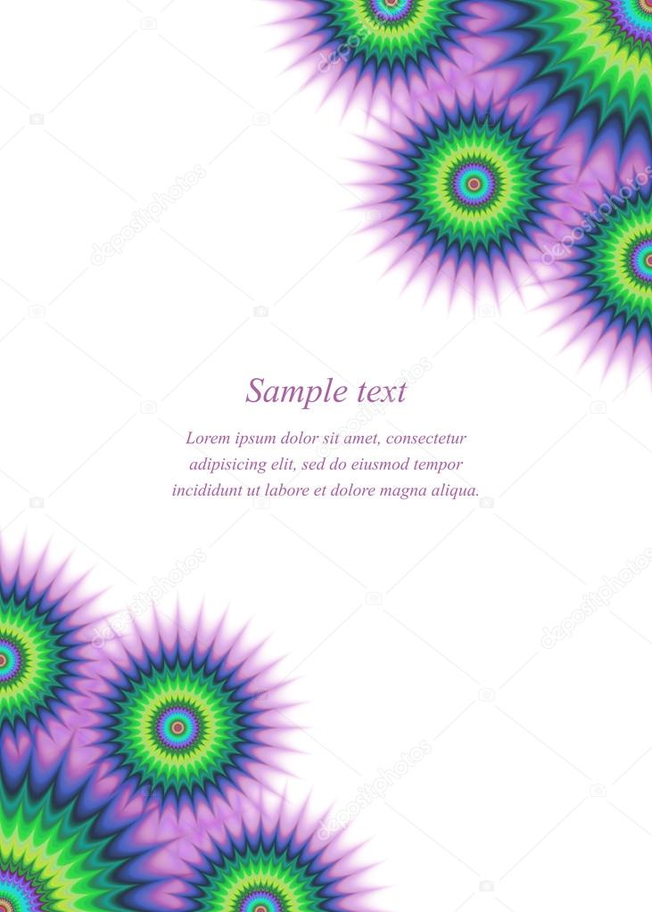 Colorful page ornament cover design template — Stock Vector
