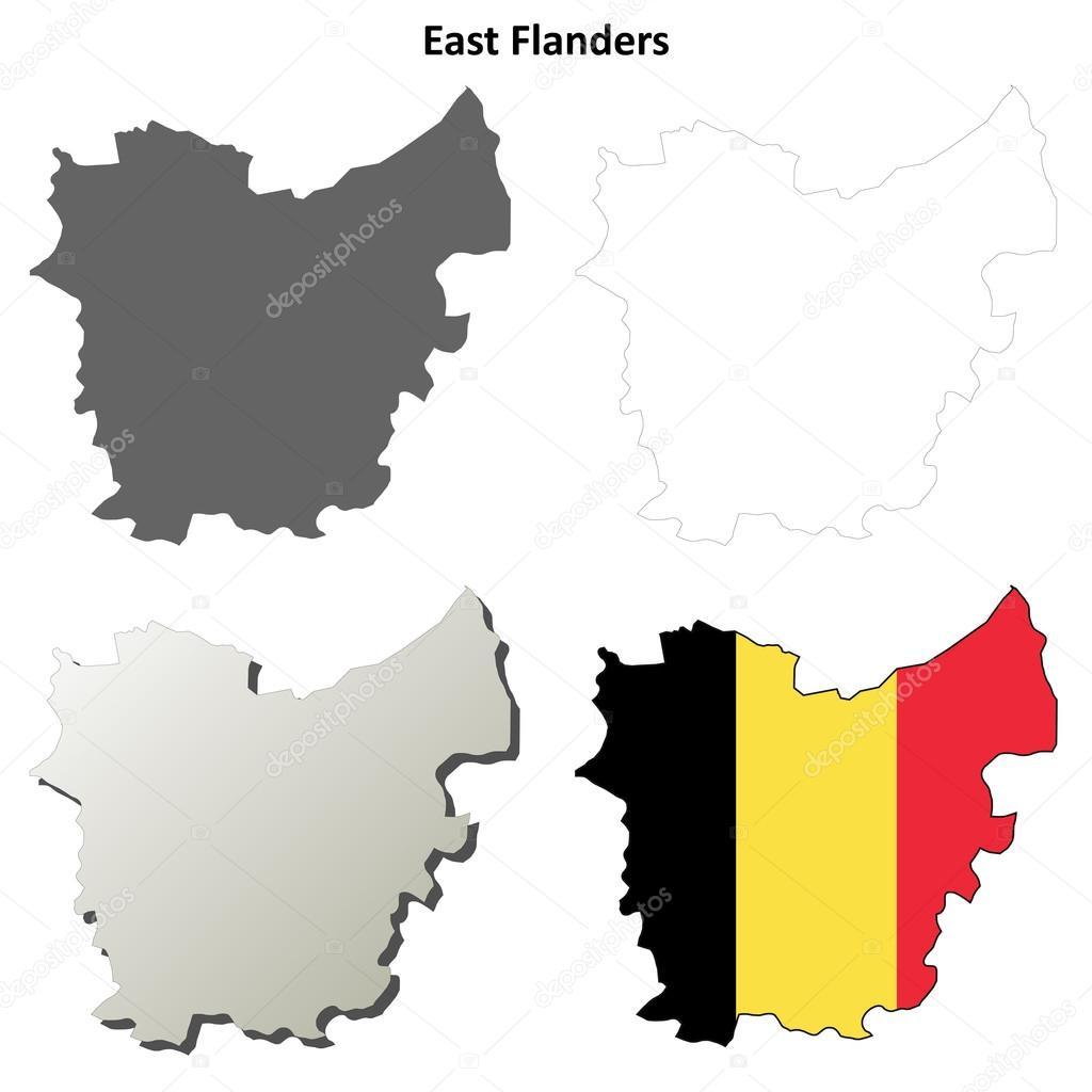 Carte Belgique Jeux.Flandre Orientale Contour Carte Jeu Version Belge Image