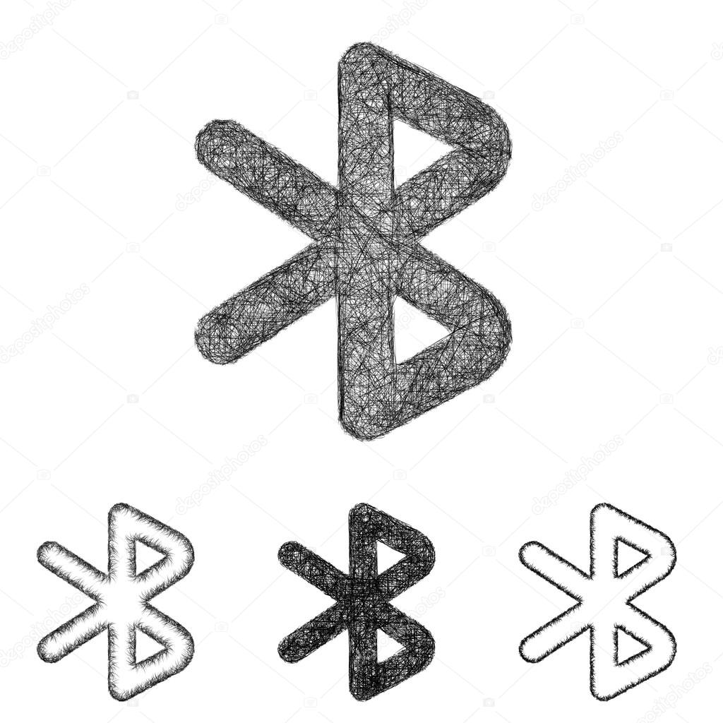 Black Bluetooth Icon