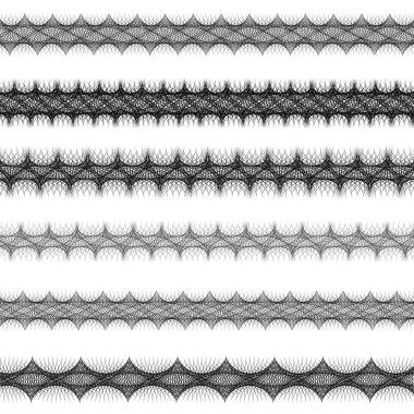 Fractal page text divider line set