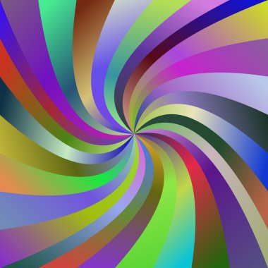 Multicolored abstract spiral ray background