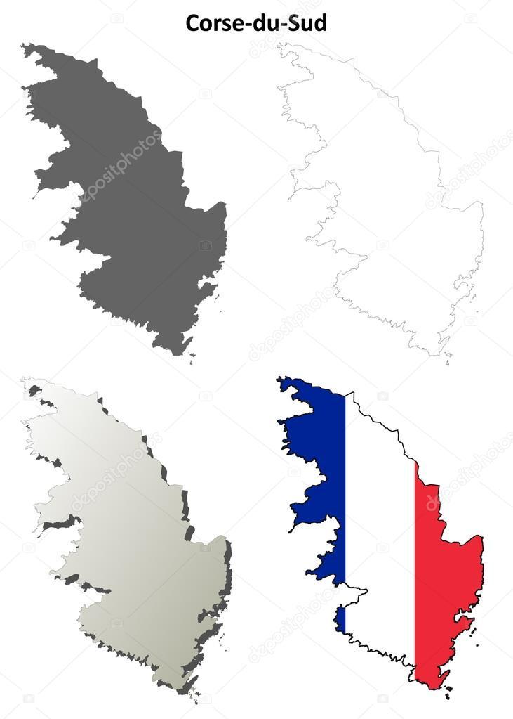 Jeu De Carte Plan Corse Du Sud Corse Image Vectorielle