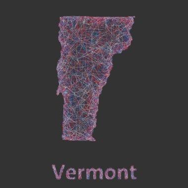 Vermont line art map