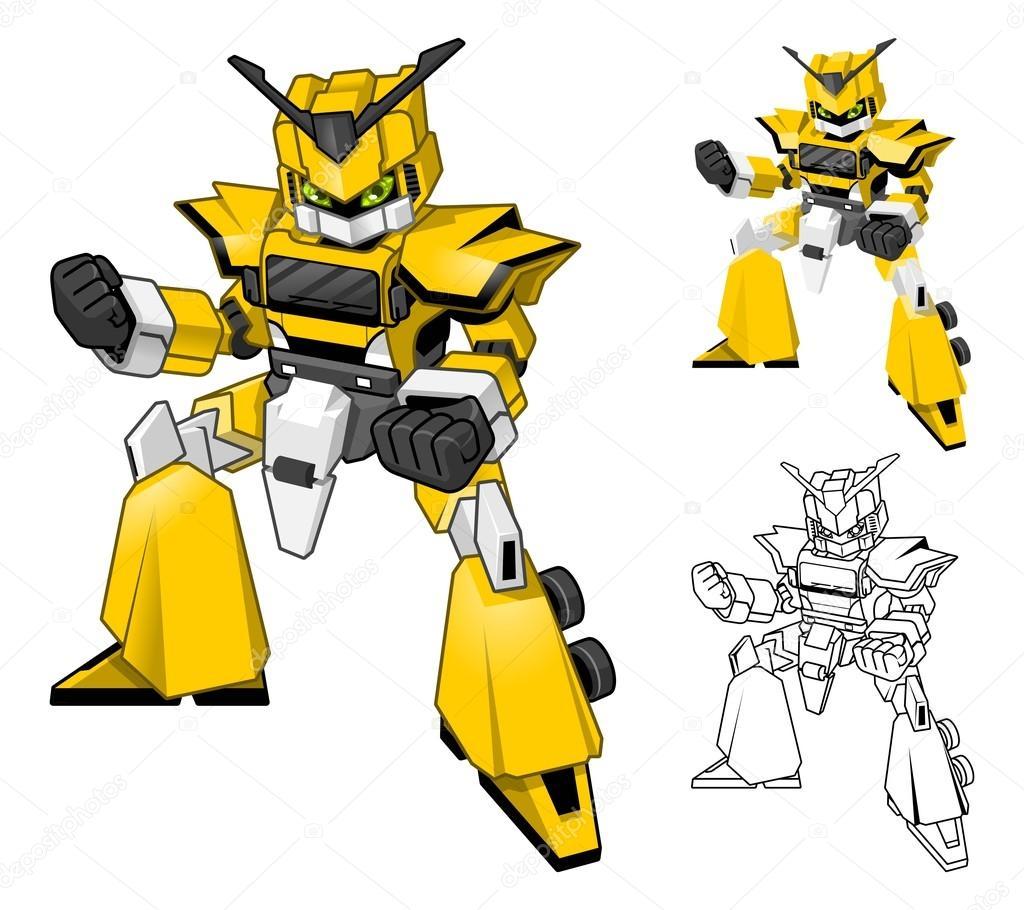 Personaggio dei cartoni animati di robot camion