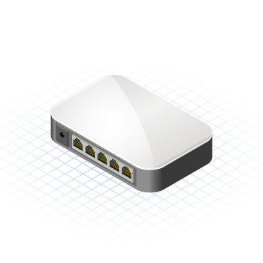 Isometric Mini Hub Vector Illustration