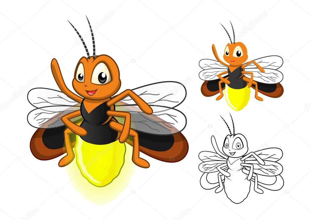 Detallada del personaje de dibujos animados de Firefly con diseño ...