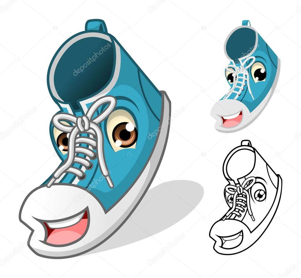 Shoes Mascot Cartoon Character Vector Image By C Ridjam Vector Stock 86991426