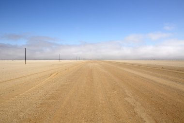 Long deserted road in Namibia.