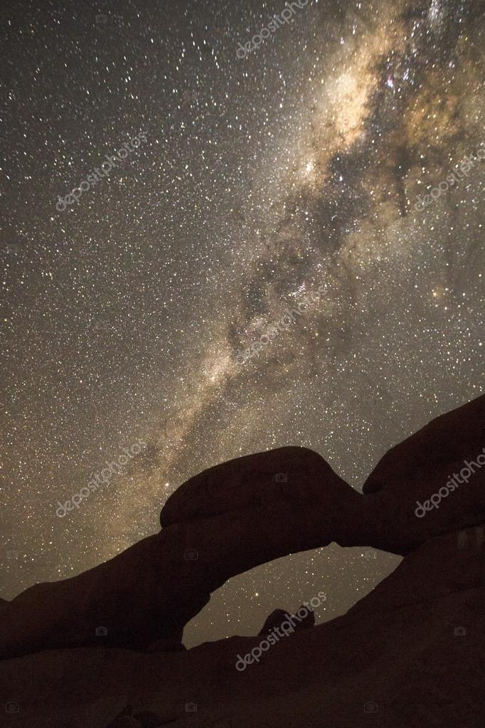 Milky way over the Spitzkoppe