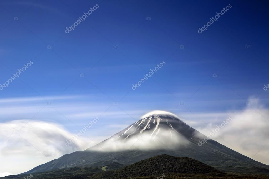 Clouds around Mount Fuji