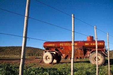 Oil Truck of  Oil transport Company. stock vector
