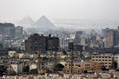Pyramids in distance