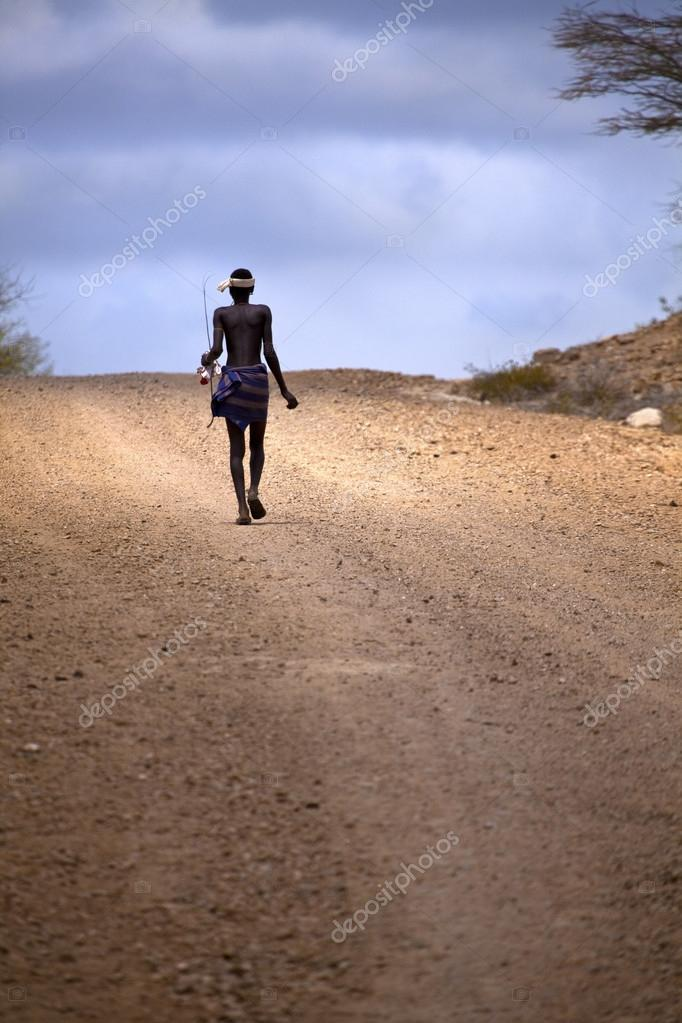 Man in Ethiopia's Omo valley