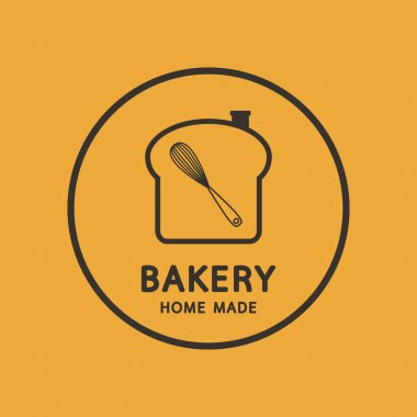 Bakery logo design. Bakery sign vector. Whisk logo design. icon