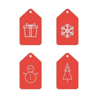 Christmas tag vector. Christmas symbol vector. icon