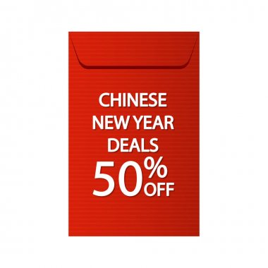 Chinese reward. Red paper Envelope pack vector. Year of the Ox concept. Red pack. Chinese new year sale. icon