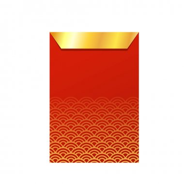 Chinese reward. Red paper pack. Envelope vector. Envelope stack vector. red pack. icon