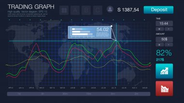 HUD UI for business app. Futuristic user interface and Infographic elements. Abstract virtual graphic touch user interface. UI hud infographic interface screen monitor radar set web elements