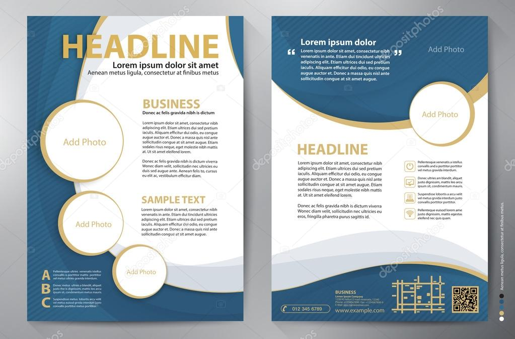 Brochure design a4 vector template