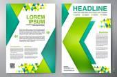Brožura návrhu a4 vektor šablona