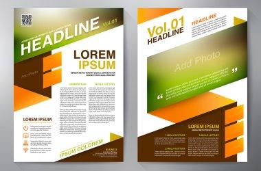 Brochure design a4 template. Vector