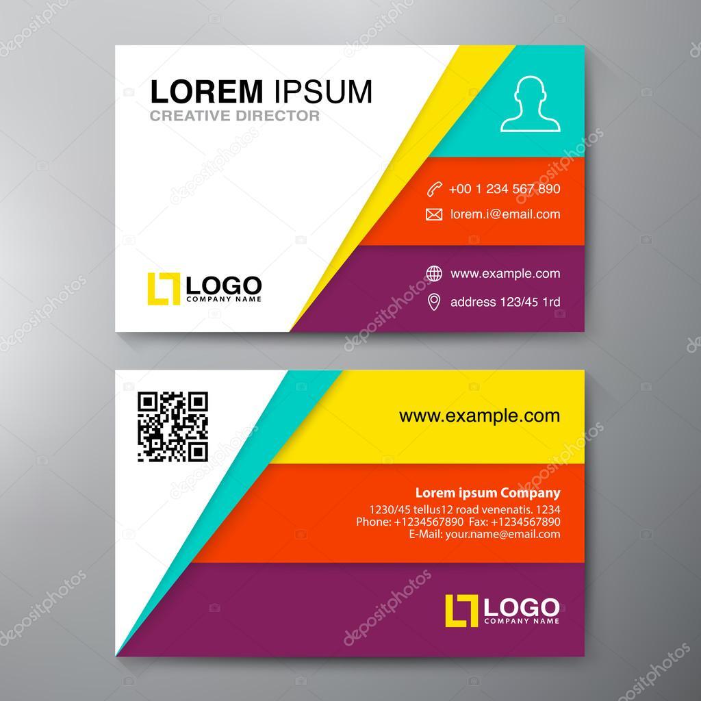 Modern Business Card Design Template Stock Vector - Modern business card design templates