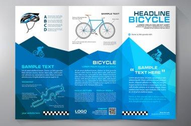 Brochure leaflet design tri-fold template.