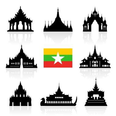 Myanmar Travel Landmarks.