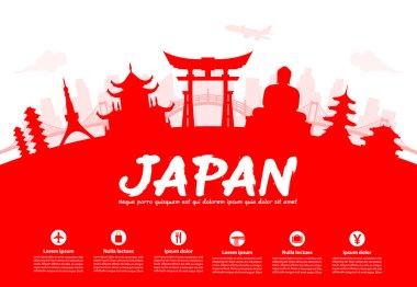 Beautiful Japan Travel Landmarks.