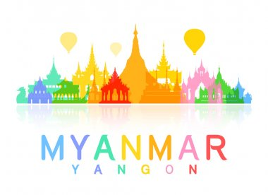 Myanmar Travel Landmarks.