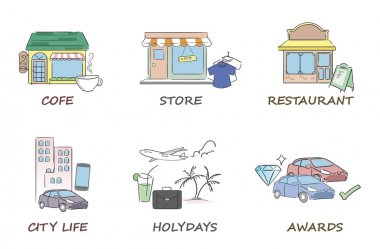 Services and stores icons