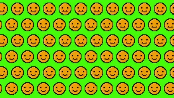 pixel smajlík animované pozadí vzorů.4K video.