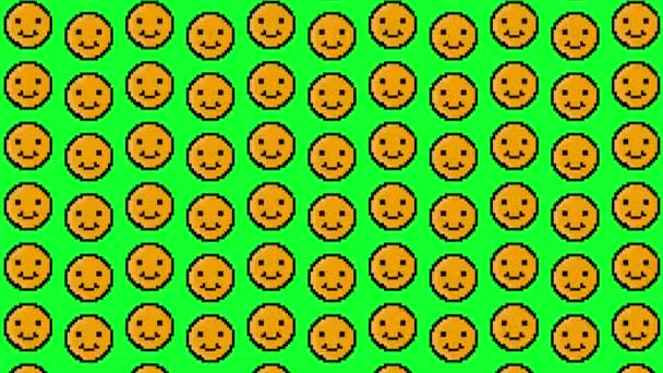 pixel smiley animated background patterns.4K video.
