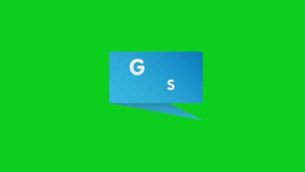 Jó hírek sign.good news paper origami beszéd buborék animáció.4K videó.Egyszerű mozgás animation.can be used for Explainer Video.green background