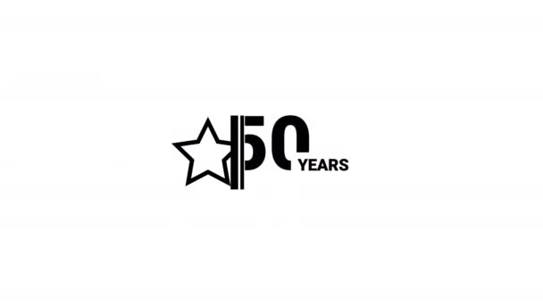 50 years anniversary celebration simple logo animation.