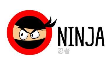 Ninja vector logo icon