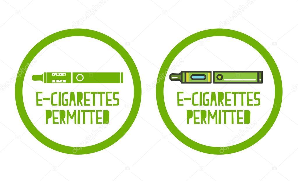 eingestellt von elektronischen Zigaretten erlaubt Zeichen Symbole ...