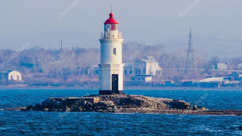 Lighthouse in Vladivostok, Russia