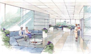 interior lobby in hotel